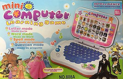 English Learner Laptop Battery Operated Educational Toy For Kids