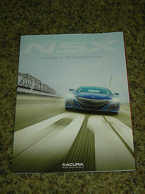 2017 Acura Nsx A Guide To The Supercar Club Brochure Mint! 8 Pages