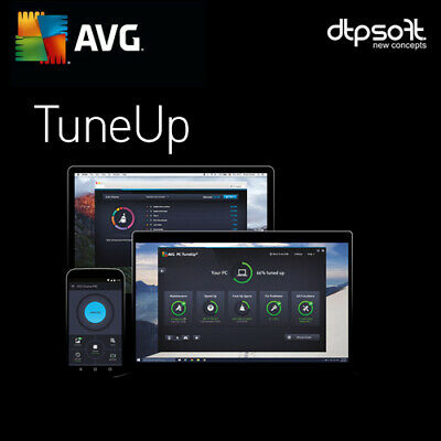 AVG PC TuneUp UNLIMITED 2017 - UNLIMITED DEVICES - 1 YEAR - PC,MAC,ANDROID