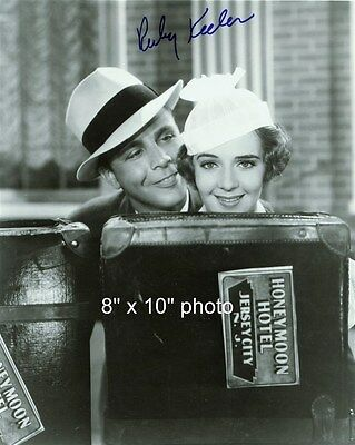 RUBY KEELER DICK POWELL photo with printed AUTOGRAPH (92)
