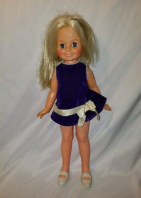 AUTHENTIC 1969 Ideal Toy Corp  Crissy sister Velvet Doll GH-15-H-157