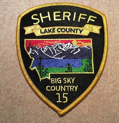 MT Lake County Montana Sheriff Patch
