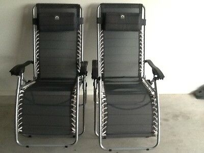 Camping lounge chairs x 2