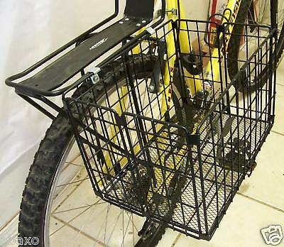Folding Bike Bicycle Wire Shopping Basket For Rear Rack/carrier