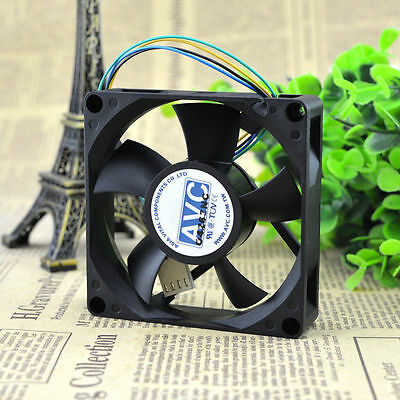 1 PC AVC DA08020B12U 80*80*20mm Cooler Cooling Fan DC 12V 0.46A 4 Pin