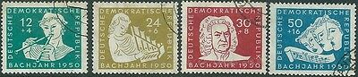 4 East Germany stamps , S.G. E15 - 18 , Fine Used (N)