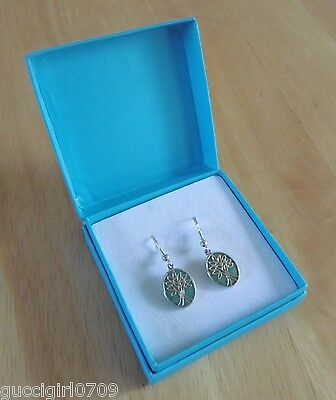 Relios Southwest Native American Sterling Silver & Turquoise Earrings (Boxed)