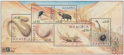 """Namibia 2000 International Stamp Exhibition """"The Stamp Show 2000"""" MNH"""