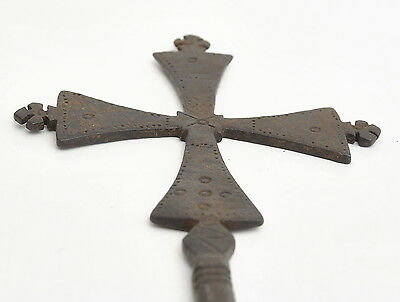 Ethiopian orthodox church old priests blessing hand cross metal handmade cross