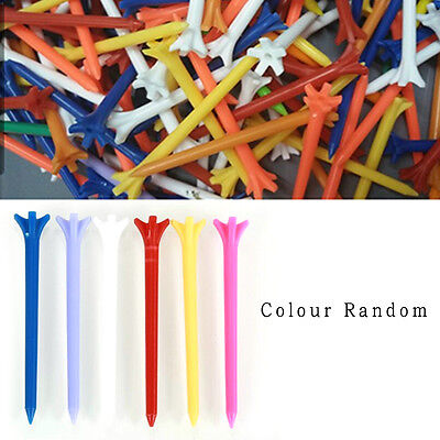 100 Pcs Pack Professional Frictionless Golf Tee Wheat Golf Tees Plastic 70mm WB