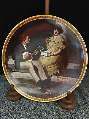 "Collectible Norman Rockwell ""Pondering on the Porch"" Plate"