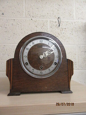 8 Day Westminster Chiming Mantel Clock In Working Order By Bentima C1950