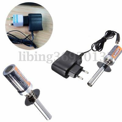 HSP RC Nitro 1.2 V Racing Rechargeable Glow Plug starter Igniter + Charger Set