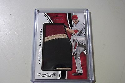 2016 Panni Immaculate Jumbo Jersey Black Parallel Archie Bradley D/backs 1/1