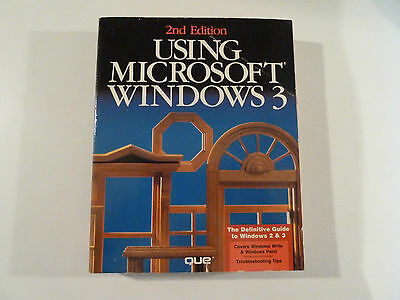 Vintage Computer Manual Using Microsoft Windows 3.2nd Edition.Que.Book.