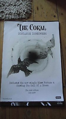 The Coral - Distance Inbetween  Promo poster -mint