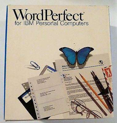 Vintage Computer Manual Box Set:Word Perfect For IBM Computers.Version 5.0
