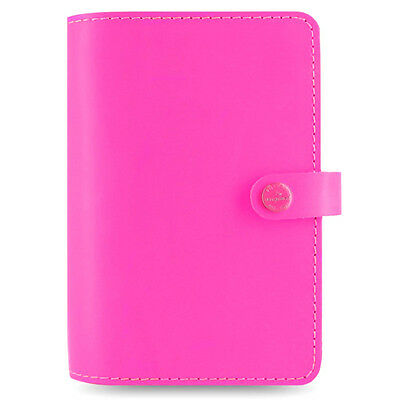 Filofax The Original Personal Organiser Fluoro Pink Leather With 12 Month Diary