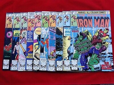 IRONMAN #132 run to 142  MARVEL COMICS Excellent Condition.