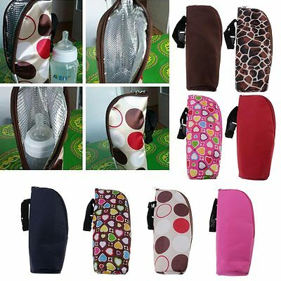 Portable Baby Stroller Hang Bag Feeding Bottle Warmers Outdoor Insulation Pouch