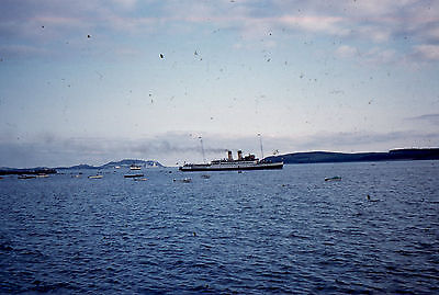 35mm SLIDE :  MARITIME : UNKNOWN LINER IN DISTANT SHOT 1960's