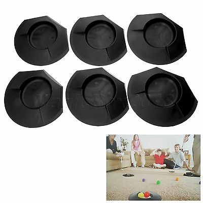 6Pc Black Golf Putting Cup Hole Indoor Outdoor Backyard Golfer Practice Training