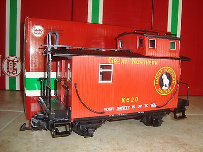 Lgb 46653 Red Great Northern Railway Caboose Ln In Original Box For Christmas!!