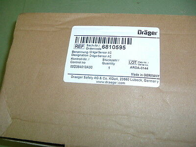 Drager Ac Sensor Diffusion Electrochemical Part 6810595 New.... Sealed Package