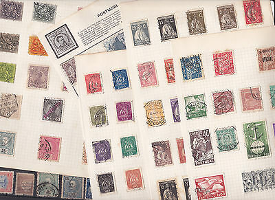 Stamps Portugal removed from old albums, see all scans