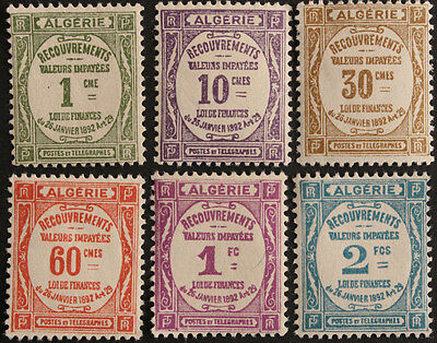 Algeria 1926-7 Postage Due Set SGD45-50 MH/MM cat value £32.55