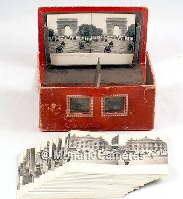 La Stereo Carte Stereoscope + Levy Fils Paris 3D Post Cards. More Viewers Listed