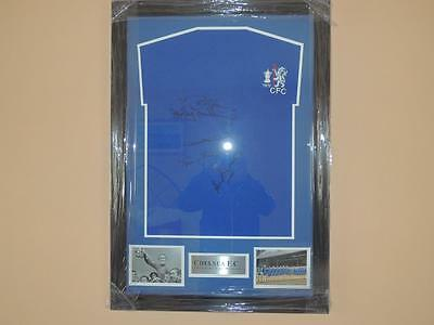 Signed 1970 Chelsea Shirt Framed signed by 5 Proof  COA