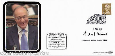 2003 Conservative Party Leaders Election Cover - Signed MICHAEL HOWARD
