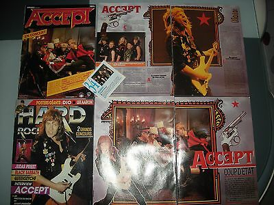 Lot Clippings Hard Rock Magazine ACCEPT