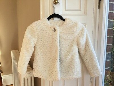 John Lewis girl's fluffy jacket - 7 years