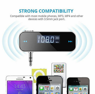 New Wireless Car MP3 Fm Radio Transmitter For Mobile iPhone 5 6 7 SAMSUNG HTC LG