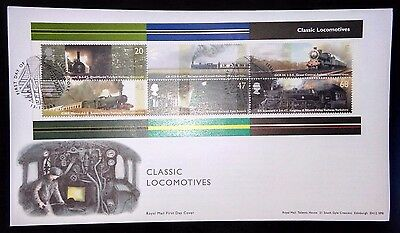 2004 Classic locomotives m/s first day cover with York special handstamp