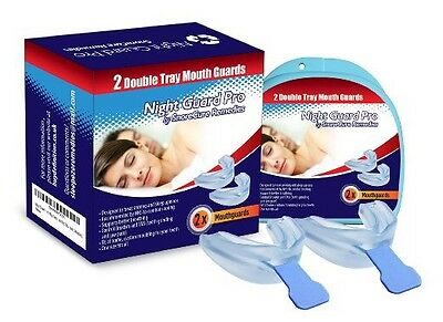 Mouth Guard for Teeth Grinding by NGP - 2 Anti Snoring Devices to Prevent Bruxis