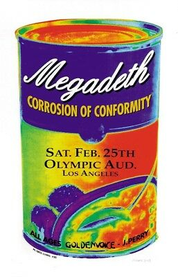 Megadeth POSTER Corrosion Of Conformity Artist M Getz Los Angeles Concert