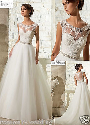 2016 New White/Ivory Wedding Dress Bridal Gown Stock size 6-8-10-12-14-16 ++++++