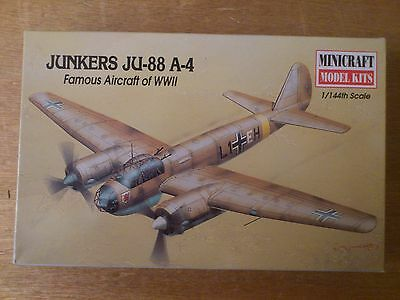 1:144 Minicraft Nr 14407 Junkers JU-88 A-4 Famous Aircraft of WWII. Bausatz. OVP