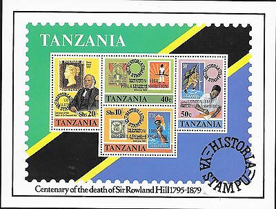 London 80 + Death Centenary Sir Rowland Hill;tanzania Sg M/s 292 M.n.h.