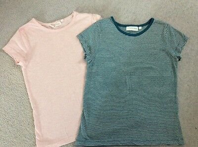 2 TAMMY GIRL Girls T-shirt Tops 9-10 years VGC PINK TEAL One NEW