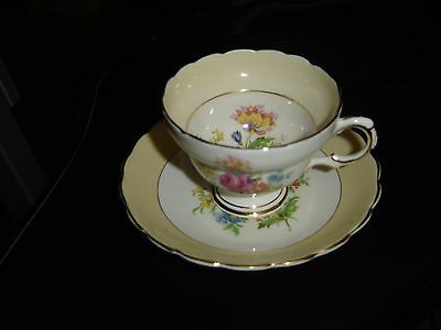 Rosina Floral English Bone China Cup and Saucer
