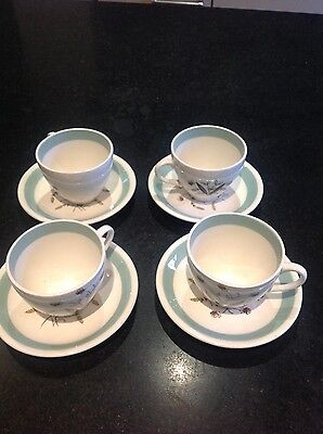 Alfred Meakin, set of four small coffee cups