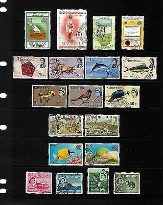 MAURITIUS stamp selection.(ref.486)