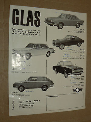 Prospectus Gamme Auto GLAS  brochure catalogue prospekt car