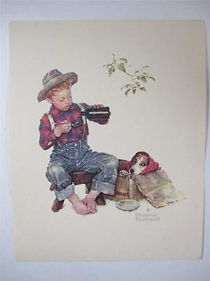 Norman Rockwell Boy and His Dog Print 10x8
