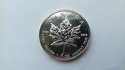 1oz 1996 Silver Maple Leaf Uncirculated with COA