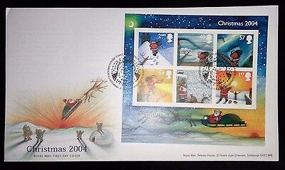 2004 Christmas m/s first day cover with Bethlehem special handstamp